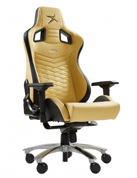 E-WIN Flash XL Series de Tamaño Extragrande Ergonómica Silla Gamer dorada de Oficina Juegos Computadora con Cojines - FLI-XL